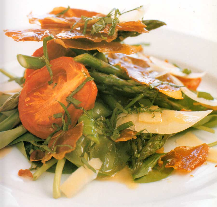 Baby Spinach and Prosciutto Salad Recipe-calories-nutrition-facts-diet-vegetarian