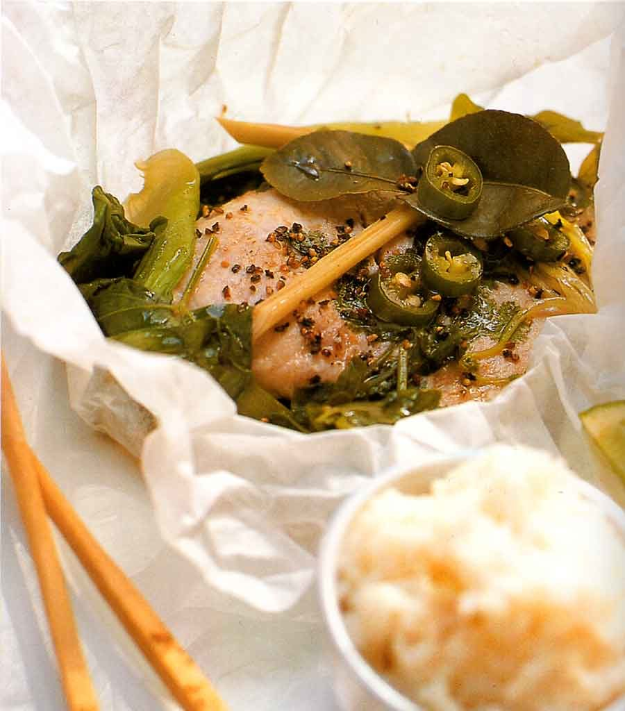 Asian Infused Swordfish with Greens Recipe-calories-nutrition facts-seafood-fish recipes