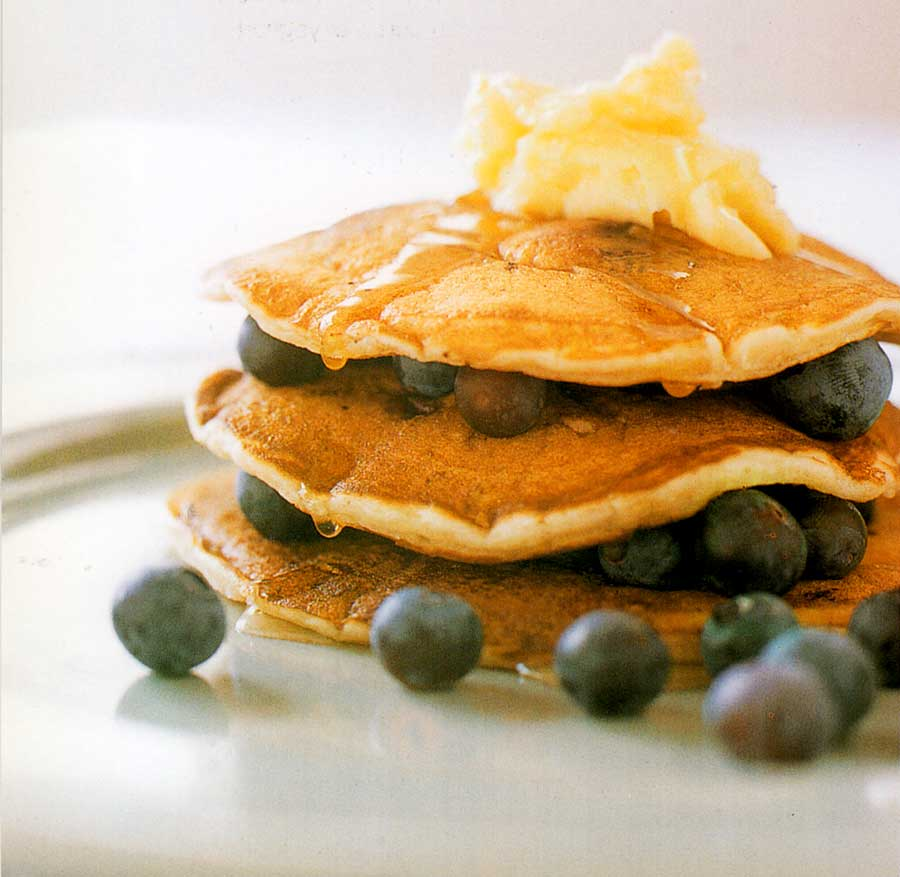 Blueberry Buttermilk Pancakes Recipe-calories-easy brunch- homemade breakfast nutrition facts