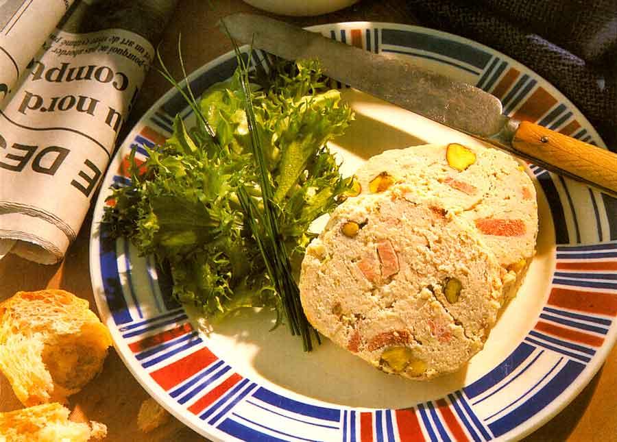 Chicken and Pistachio Pate Recipe calories-Ballotine de Volaille aux Pistaches-step by step