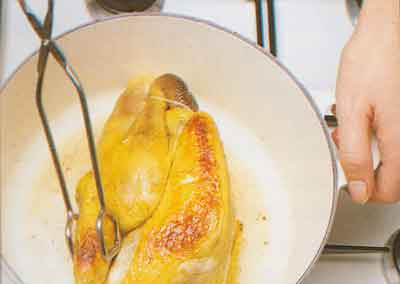 Guinea Fowl or Chicken with Cabbage Recipe calories-Pintade au Chou-step by step with photo