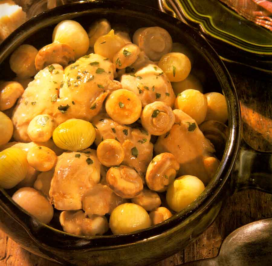 Old-fashioned Chicken Fricassee-calories-Fricassee de Poulet-nutrition facts-recipe for chicken-french cuisine