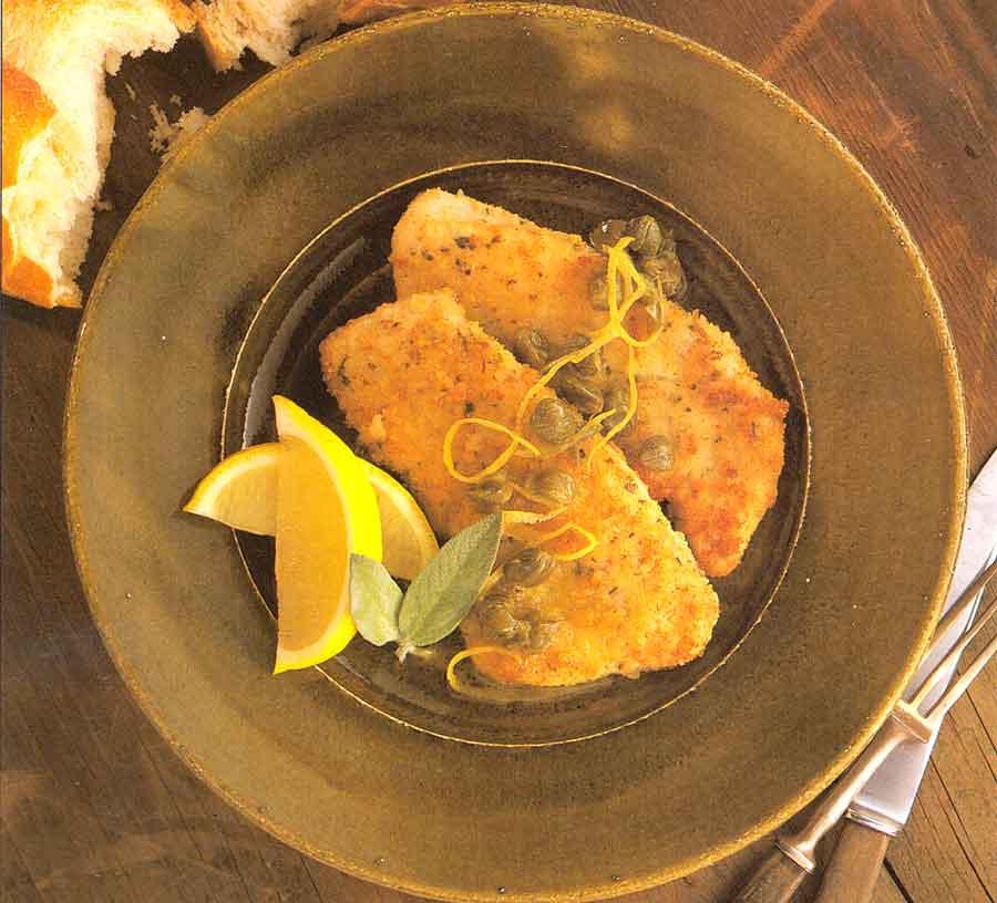 Turkey Escalopes with Capers Recipe calories-Escalopes en Capilotade-French cuisine poultry recipes