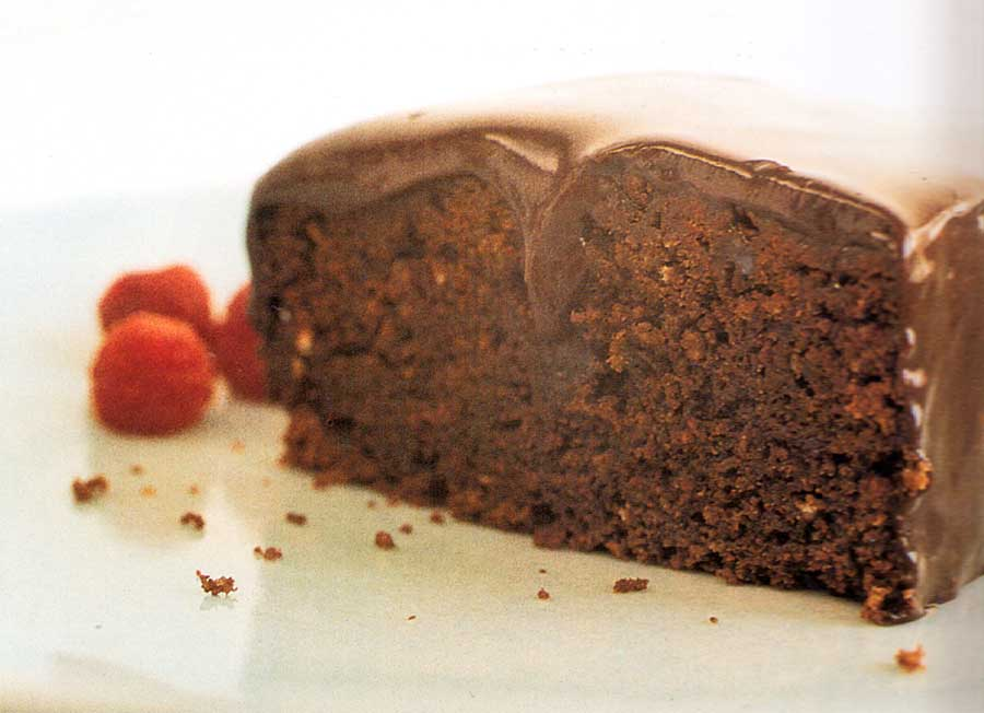 chocolate cake with glaze-calories-nutrition facts-easy-homemade-step by step