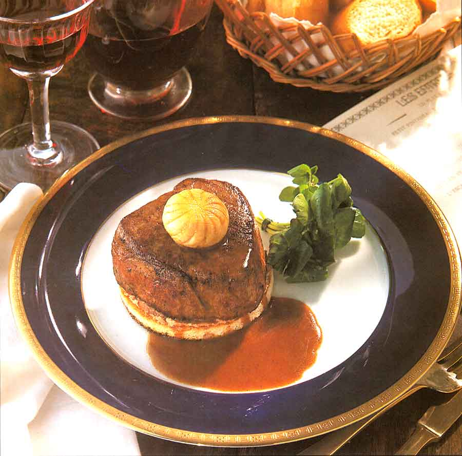 Filet Mignon with Mushrooms Recipe-calories-Tournedos Rossini-nutrition facts-easy french cuisine recipes