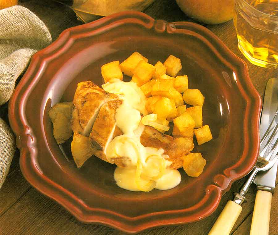 Pheasant-Breast-with-Apples-Recipe-calories-Faisan-a-la-Normande-nutrition-facts-easy-french-cuisine