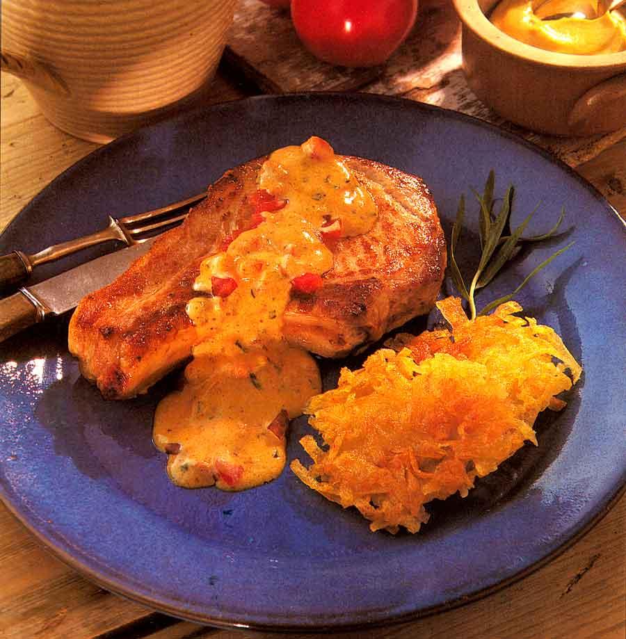 Pork Chops with Tomato Sauce-calories-Cotes de Porc Sauce Nenette-best french style food