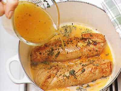 Pork-Fillet-with-Sage-and-Orange-recipe-calories-Filet-de-Pore-a-la-Sauge-step by step with photos