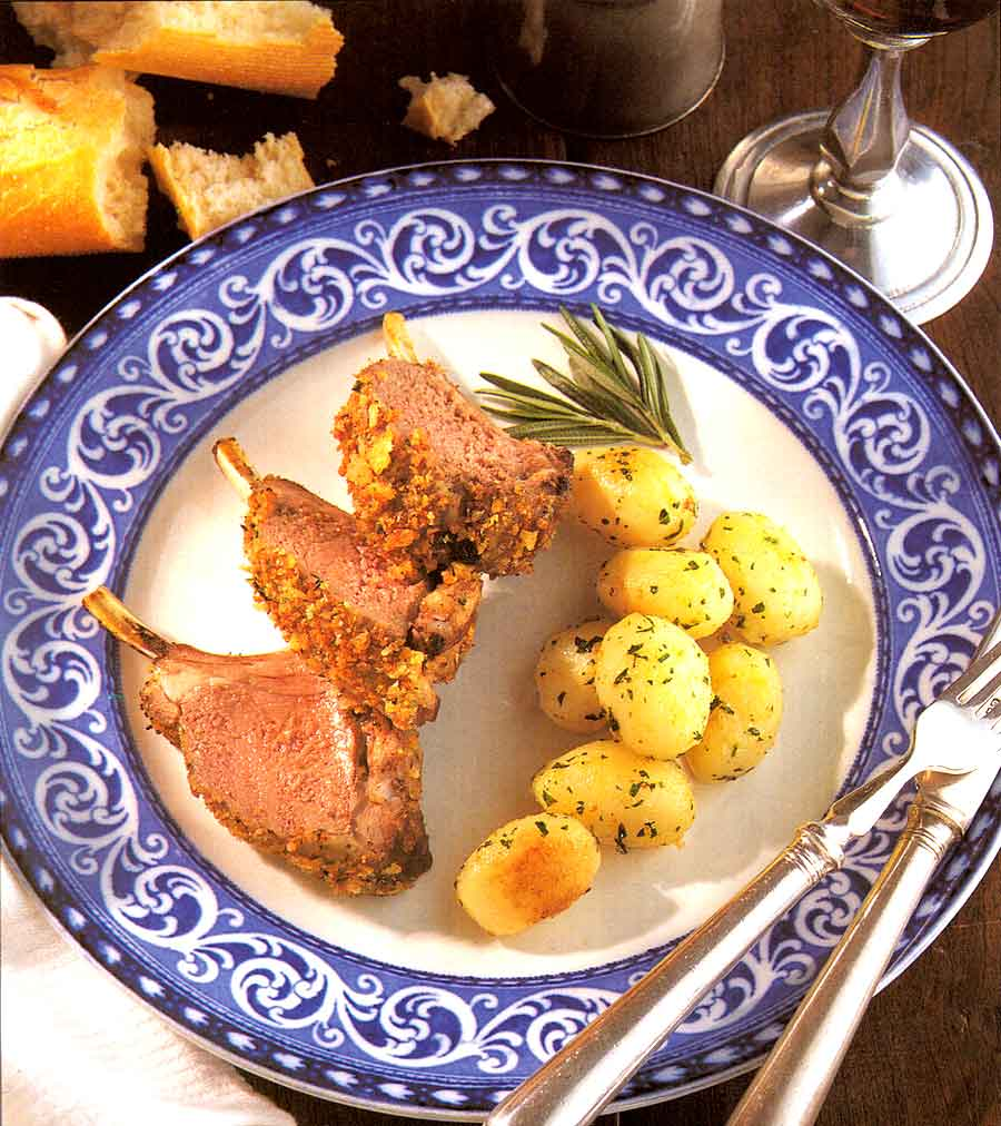 Rack of Lamb with Mustard Recipe-calories-Carre d Agneau a la Moutarde-easy best french food cuisine