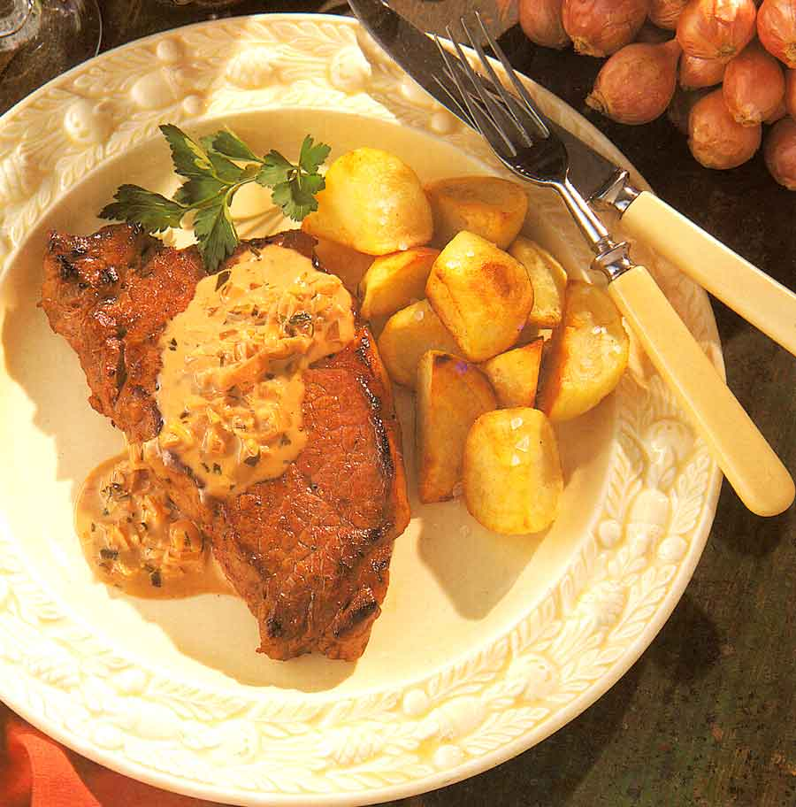 Steak with Anchovy Sauce Recipe-calories-Entrecote an Beurre d Anchois-nutrition facts-easy french cuisine