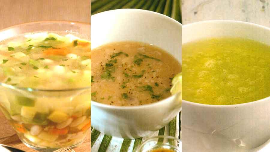 4 Vegetable Diet Soups-Avocado-Cucumber-Bean-Artichoke Soup Recipe-easy and homemade