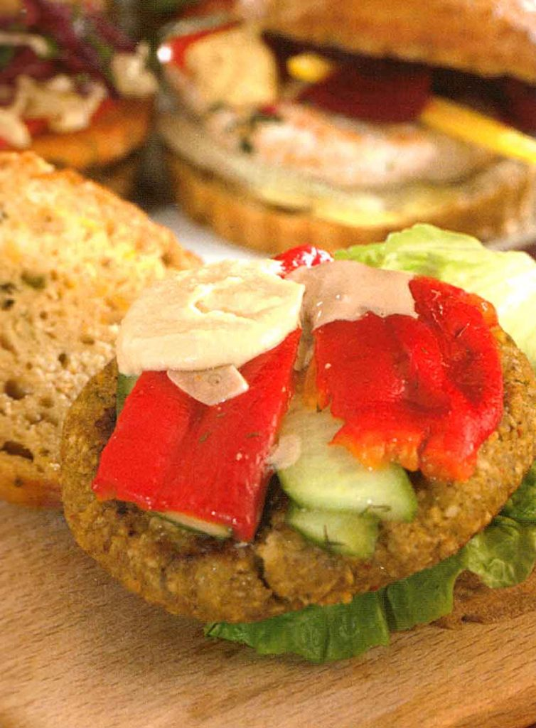 Easy Falafel Burger Recipe-nutrition facts and calories-diet food-healthy