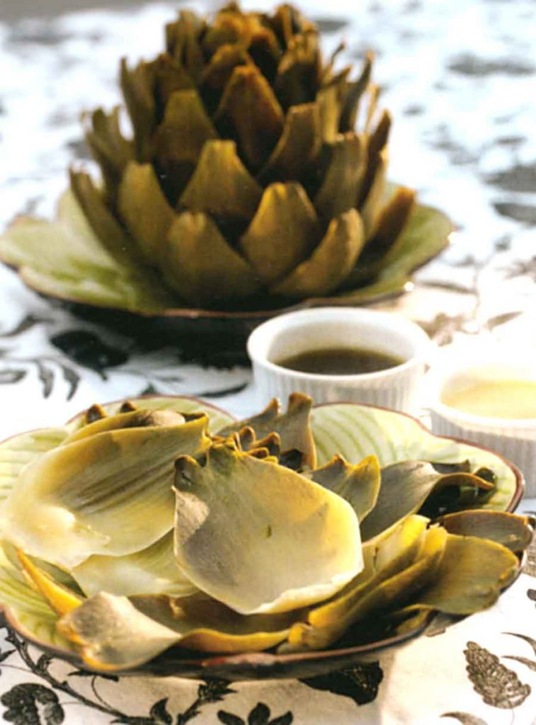 Vegetable Dishes for Diet-freaks-Steamed Artichokes Recipe-diet food-low fat
