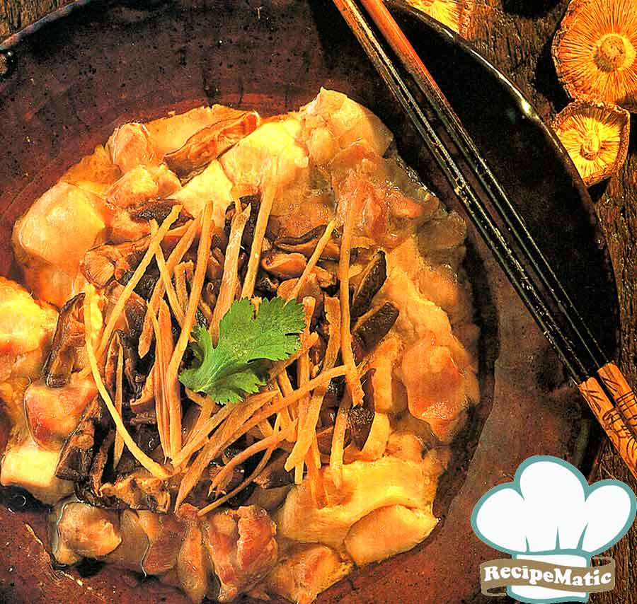 Chicken with Mushrooms Recipe: Chinese Cuisine Recipes (how many calories)