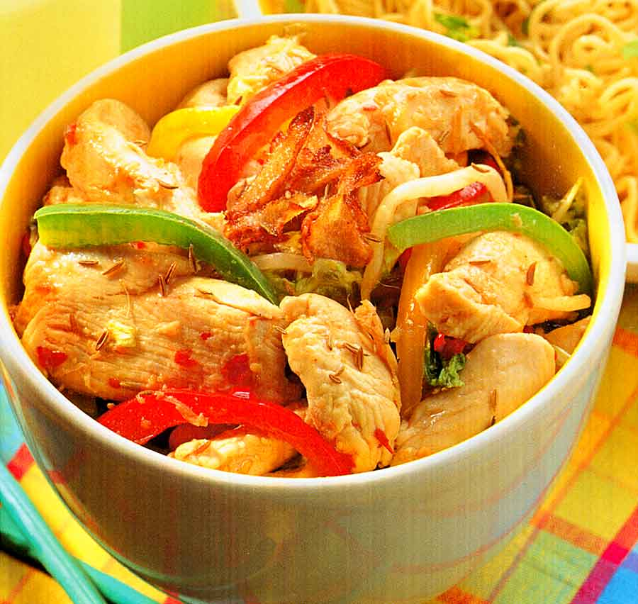 Cumin-Spiced Chicken Recipe | Chinese Style Chicken (how many calories)
