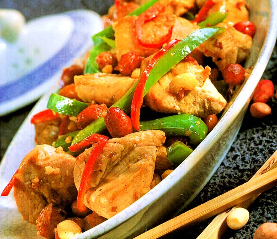 Spicy Peanut Chicken Recipe | Chinese Style Chicken (how many calories)